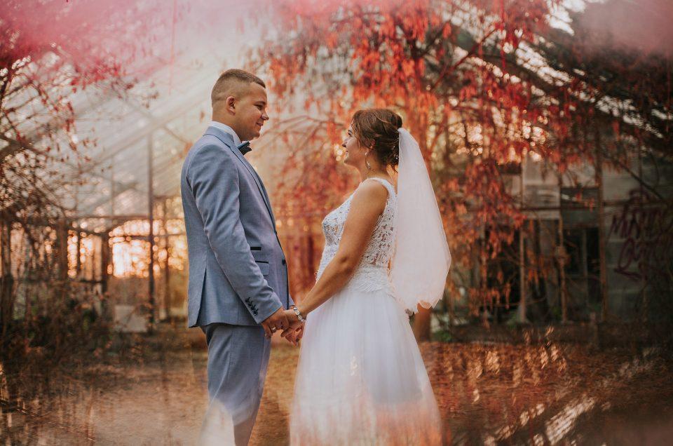 Monika i Patryk |Sesja ślubna w opuszczonej szklarni